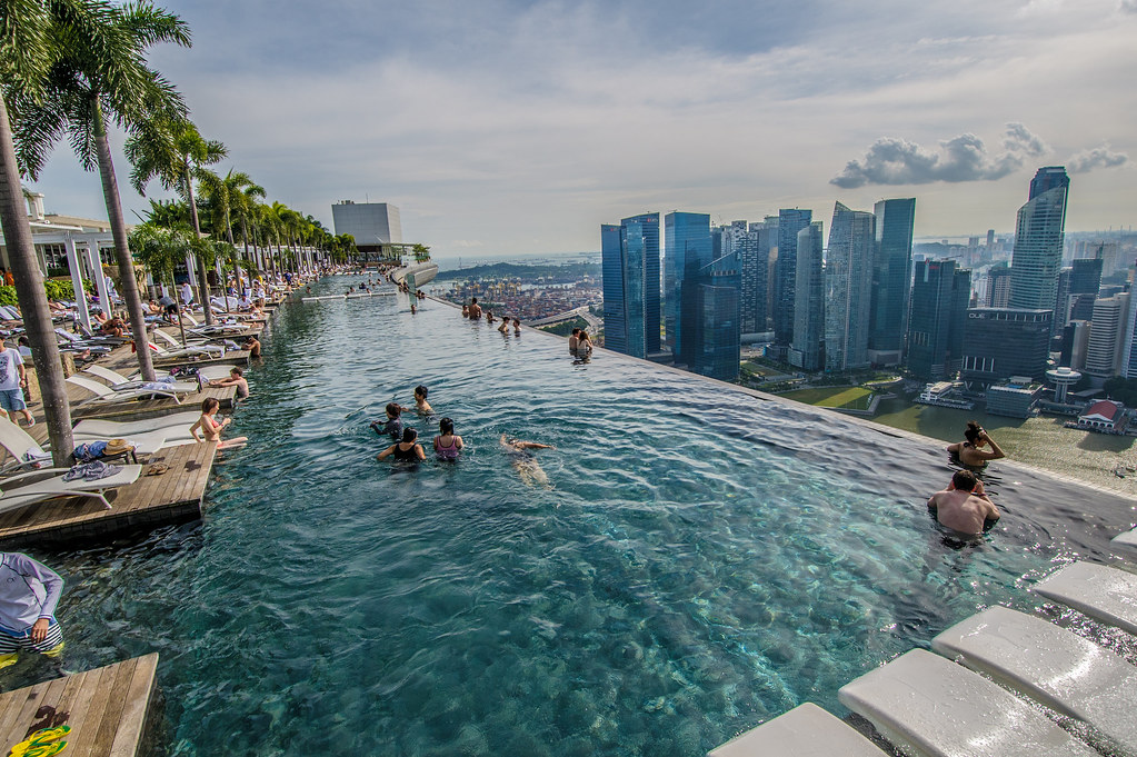Marina Bay Sands SkyPark Infinity Pool in Singapore