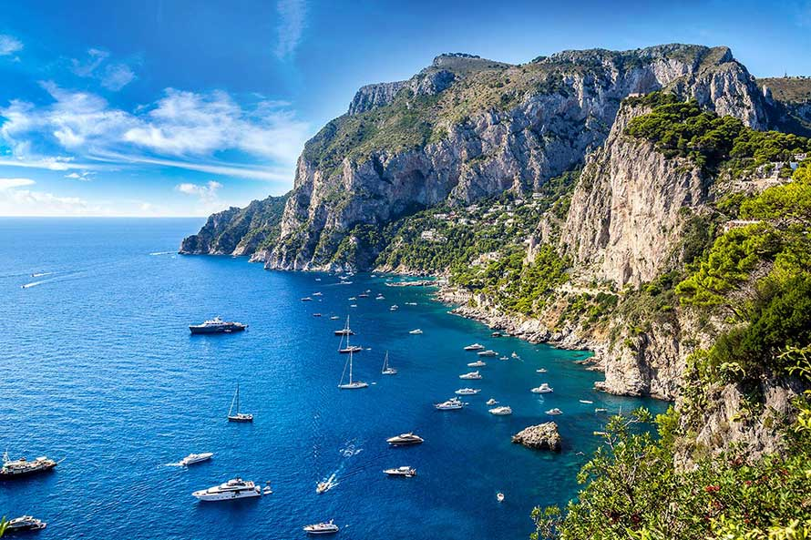 Amalfi Coast and Capri, the Pearls of the Mediterranean Sea