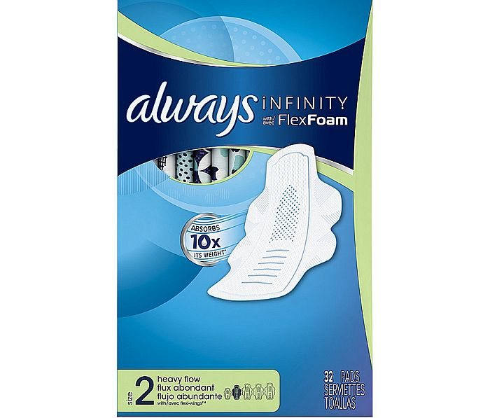 Best pads for heavy periods (with wings)? Always Infinity, of course!