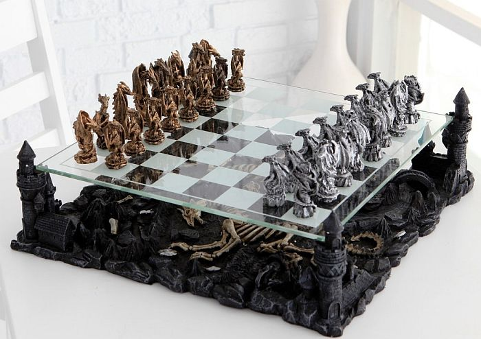 For collectors, this dragon chess set is a perfect pick