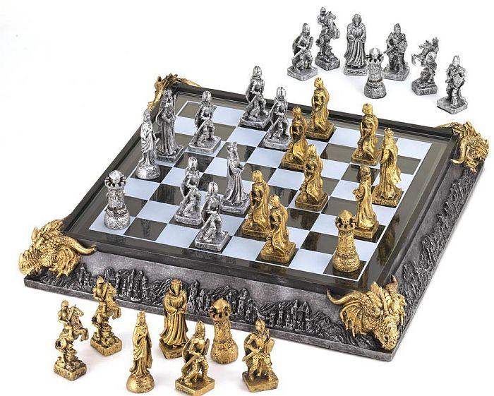Get a taste of the medieval times with this amazing chess set for beginners and pros alike
