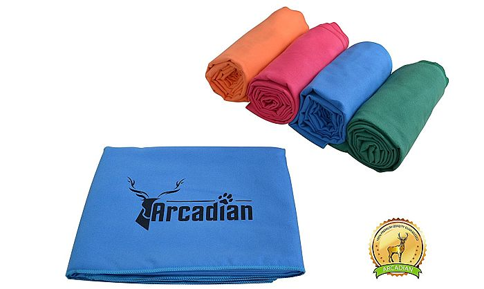 Best pet microfiber towel for large dogs: Arcadian's microfiber