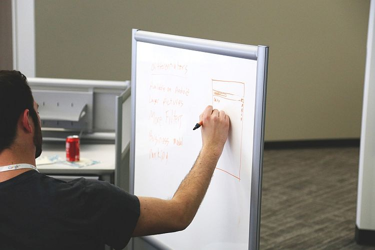A good whiteboard will streamline your thoughts and help with idea generation or brainstorming sessions.