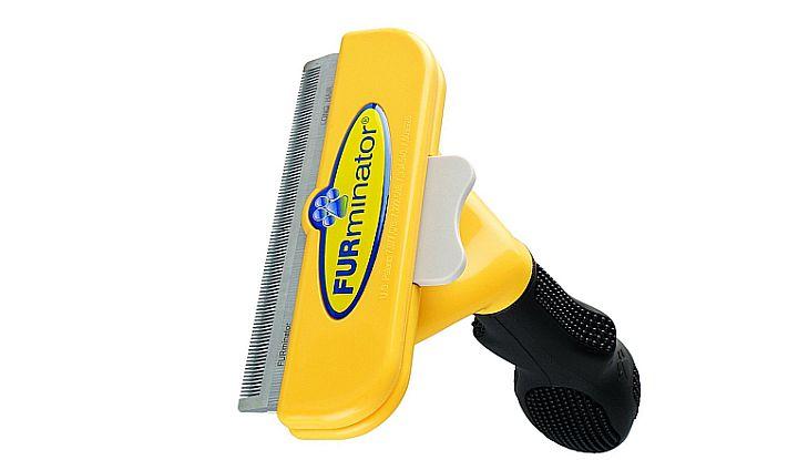 The Furminator deshedding tool vs Undercoat rakes: it's a bit weaker with thicker coats