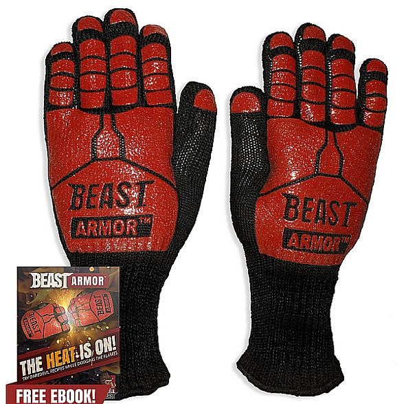 The best mitts for grilling just might be these fiery gloves that withstand high heat.