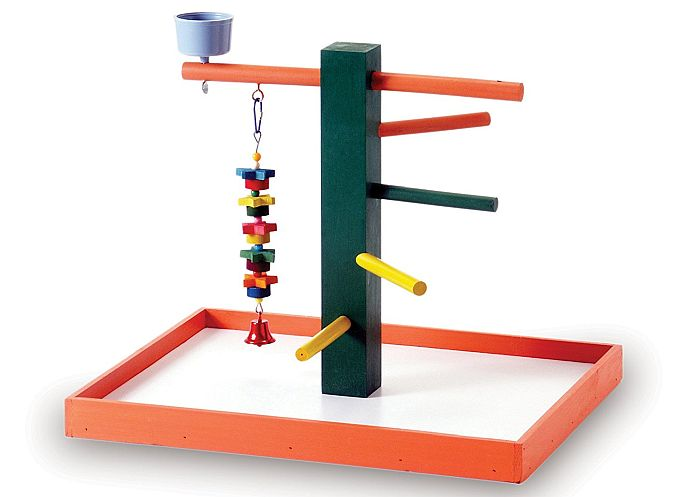 Prevue's playground is one of the best toys for parakeets due to its wide space.
