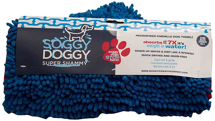 Best chenille dog towel after bathing: The famous SoggyDoggy!