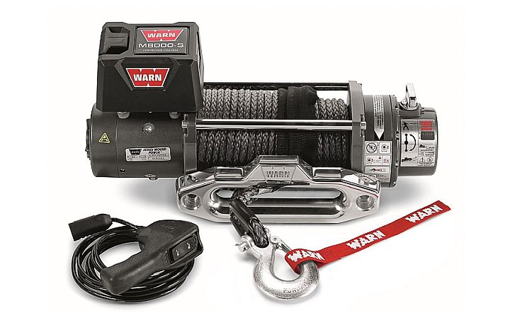 The best Warn winch for any Jeep is the synthetic M8000-s series. Lightweight, strong, pulls at 8000 lbs.