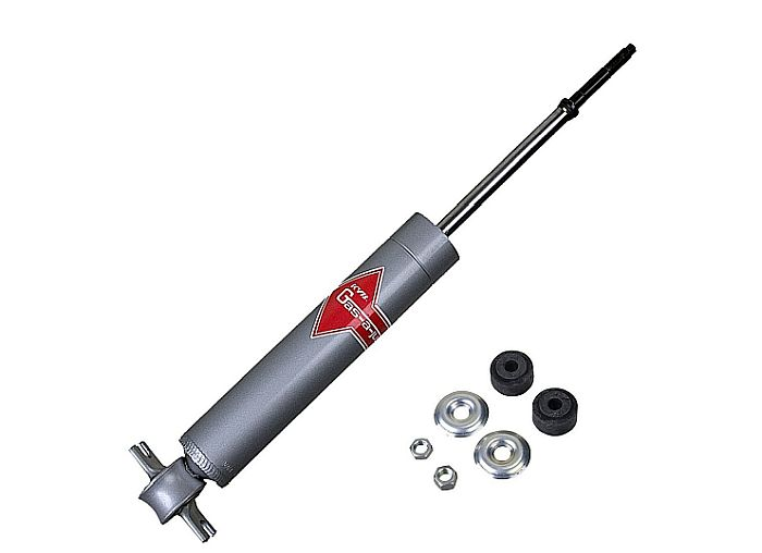 KYB's Just-a-Gas shocks: firm control for drivers who want to be kings on the road.