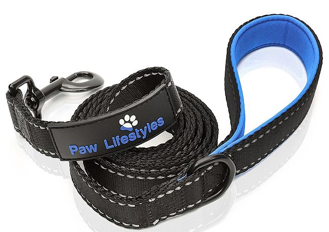 Sturdy, soft and you can see it in the dark: a monument to the best pitbull leashes out there, that Paw Lifestyles one!