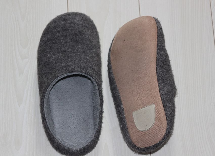 Soft fabric outsoles are NOT the best for tackling hardwood floors with your slippers.