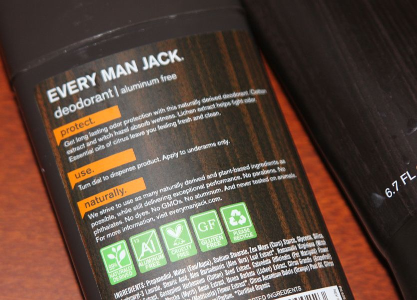 Every Man Jack's natural deodorant review: didn't really irritate my skin, as promised.