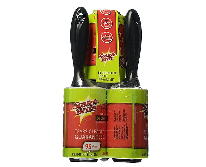 Scotch Brite: the best lint roller for everything - not only sweaters, but also suits.