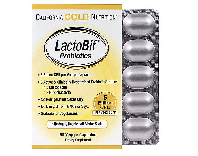 California Gold probiotics are definitely another important supplement I'm taking.