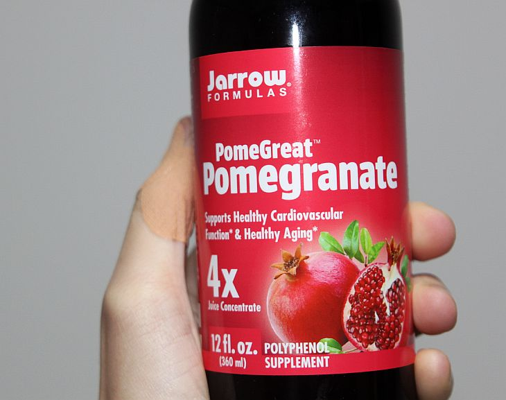 Jarrow's pomegranate juice concentrate is tasty, healthy, not too sweet, and a great source of polyphenol.