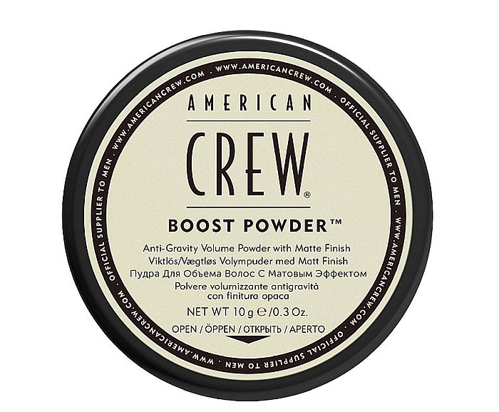 Matte finish on sparser, too fine hair: this is what the American Crew pomade delivers.