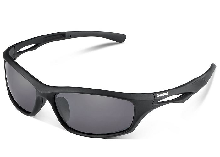 Sports glasses work extremely well with bald heads. Their elongated shape makes them a great pick especially for oval faces.