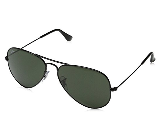 Ray Bans: a classic for the bald-headed guys, especially for those with an oval-shaped face.