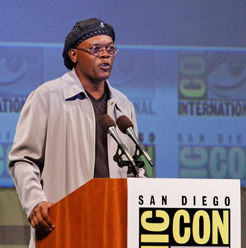 Flat caps: as Samuel Jackson shows, they are a classy type of hat for sophisticated bald heads.