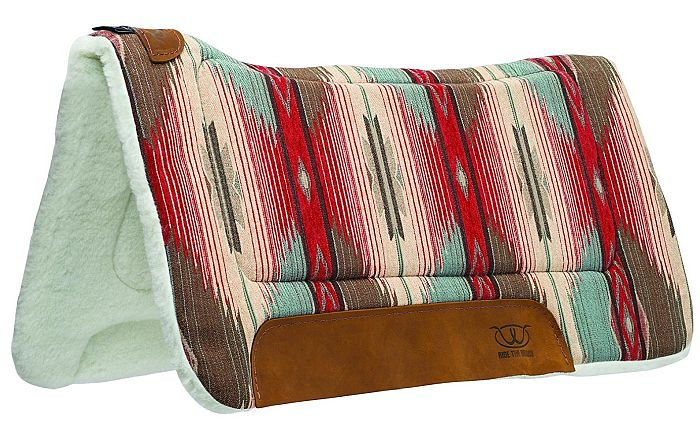 Weaver Leather provides the best fleece saddle pads, working pretty well with high withered horses.