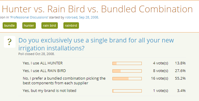 Hunter vs Rainbird: A Few Differences Between These