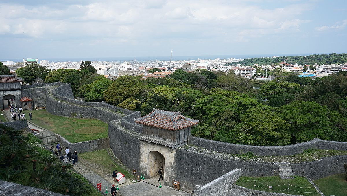Stone Walls Around Shuri Castle