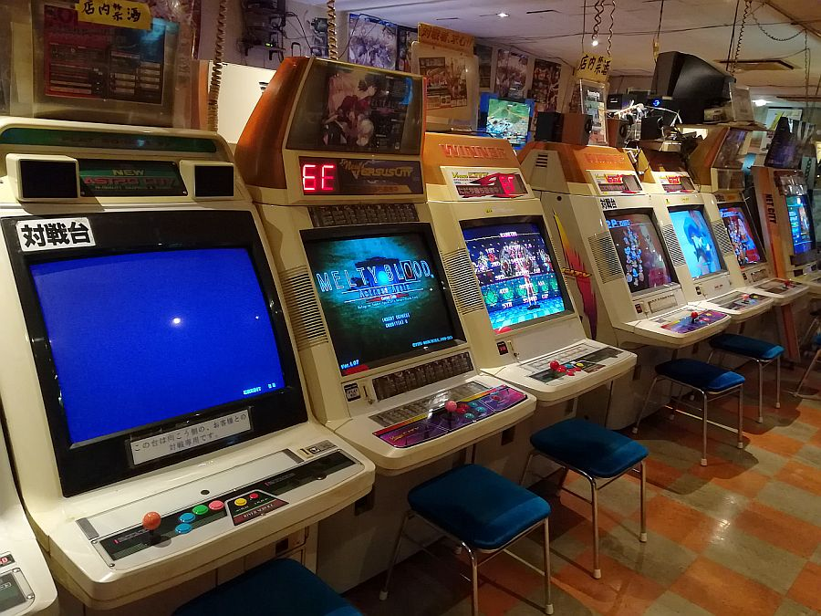 Retro arcades are quite popular in Okinawa, it seems. This one had dozens of old school games!