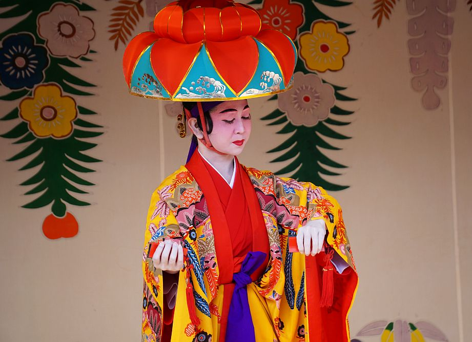 Shuri Castle Dance Spectacle: Act 1 With Traditional Clothes