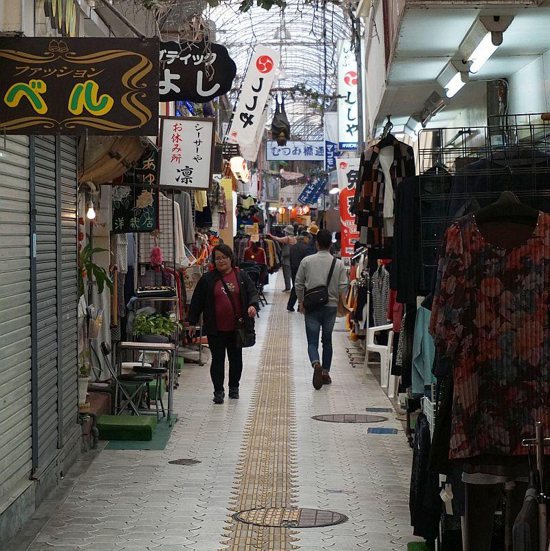 Wandering around the streets of Naha, Okinawa