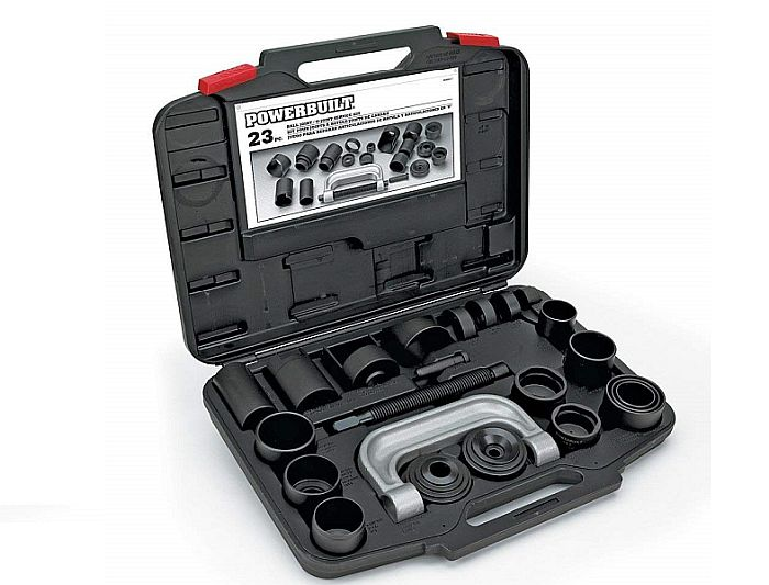 For professional ball joint removal sets, you need lots of receiver tubes. Here's the kit I recommend.