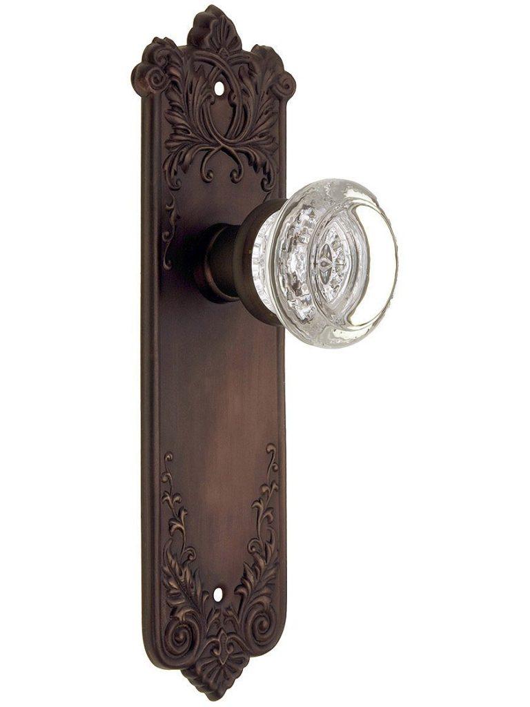 house-antique-hardware-loraine-passage-door-set-round-glass-knob-oil-rubbed-bronze