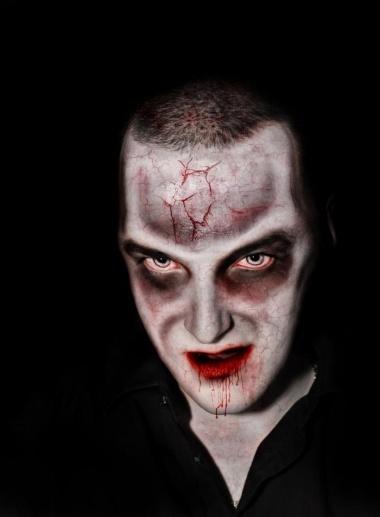 Vampire with decaying flesh