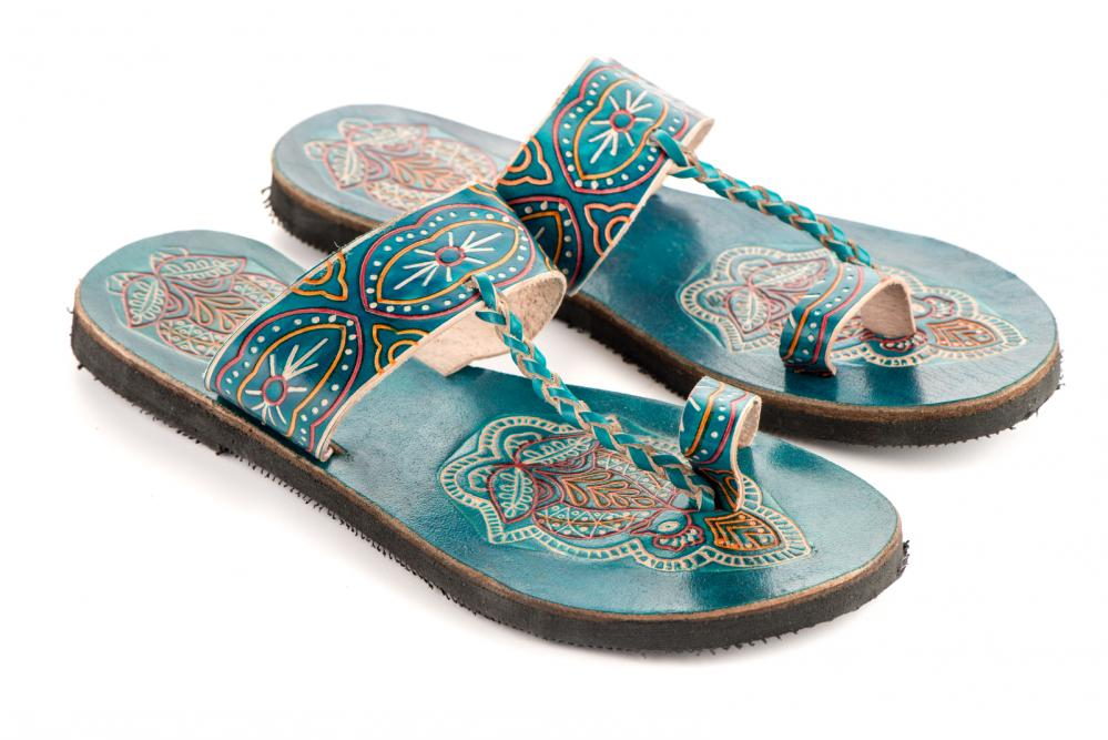 Open-Toed Embroidered Sandals