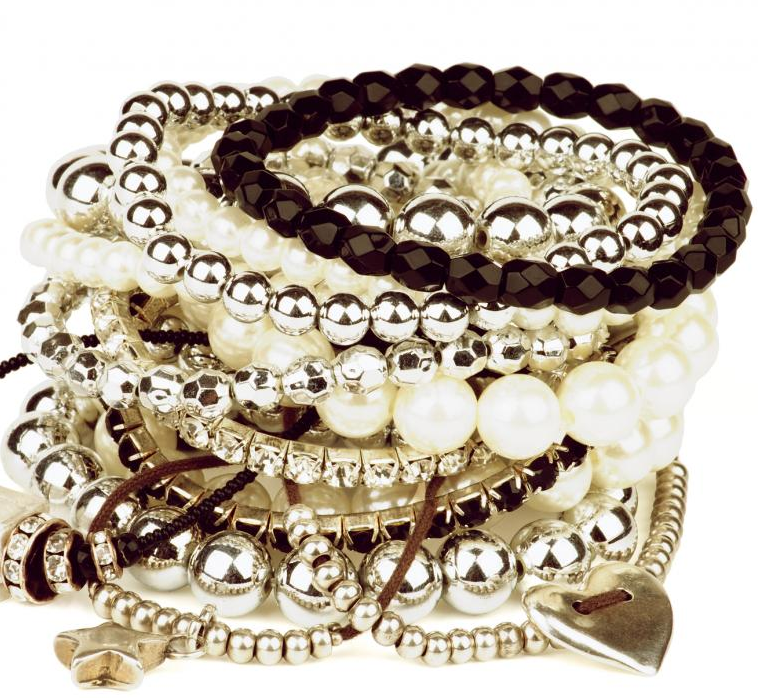 Various types of bracelets