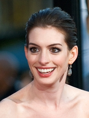 Smiling Anne Hathaway