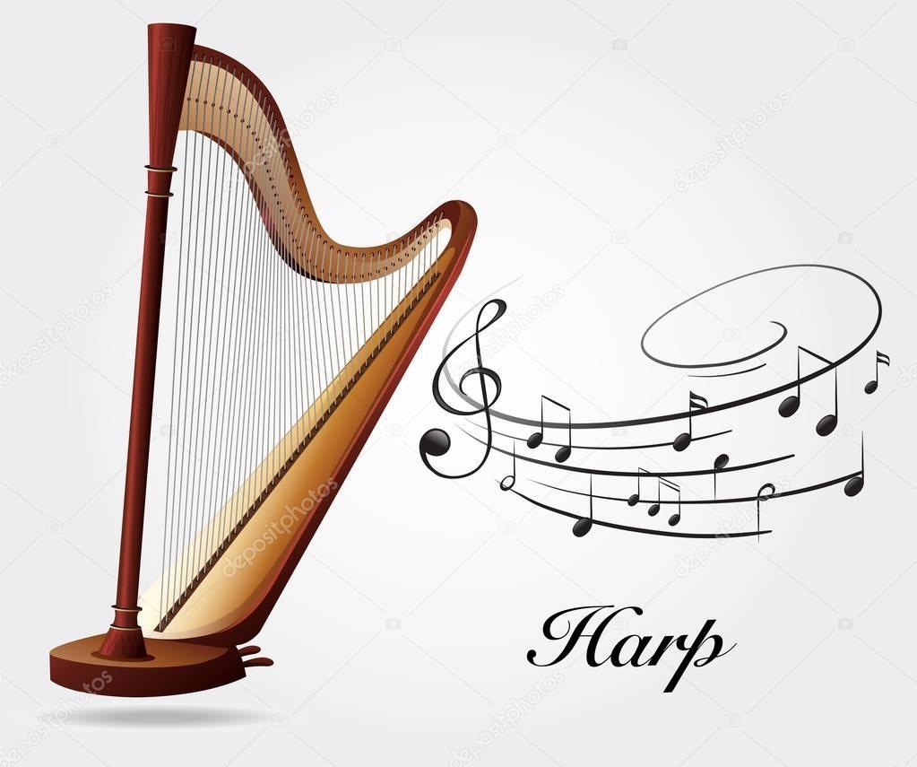 Modern Pedal Harp