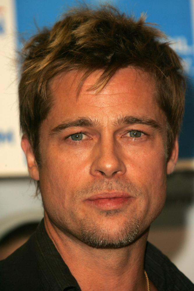 Brad Pitt's Medium Hairline