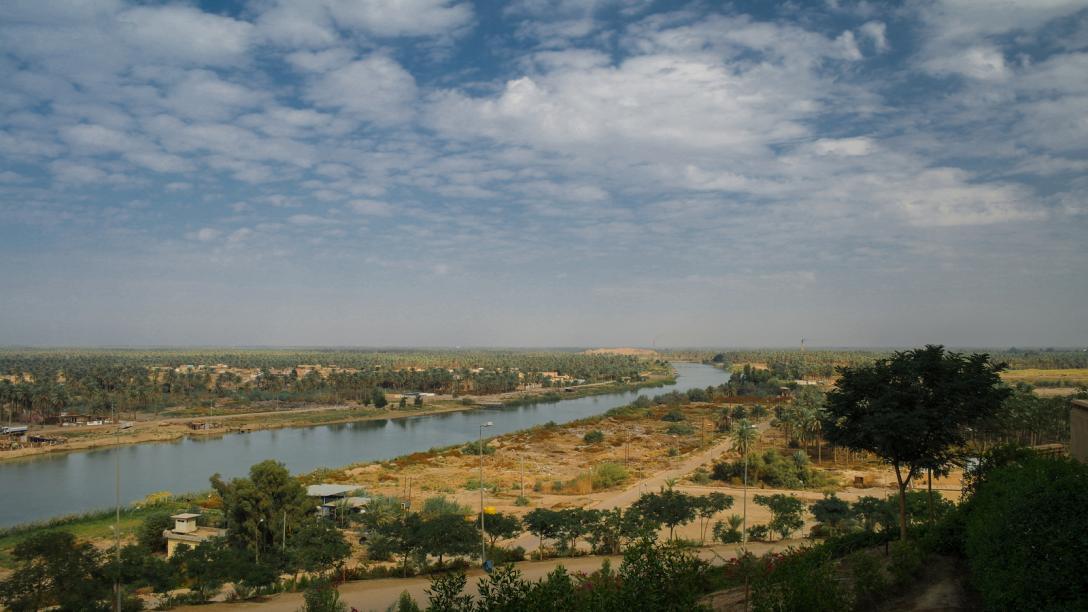 The Euphrates River, Iraq